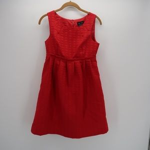 Max & Cleo Red Casual Sleeveless Fit & Flare Dress